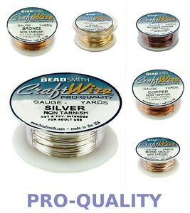 BeadSmith CRAFT WIRE Copper Round -Choose color-