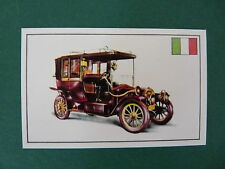 N°68 ISOTTA FRASCHINI TYPE A N ITALIE 1909 PANINI 1972 HISTOIRE DE L'AUTOMOBILE