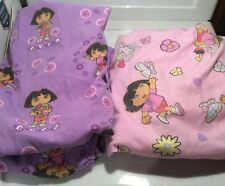Dora the Explorer Lot Of 2 Fitted Toddler Bed Sheets Pink & Purple