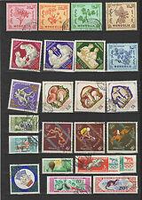 années 60 Mongolie un lot de timbres oblitérés / T1739