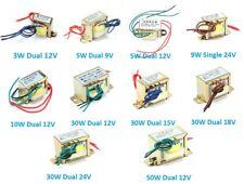 220V 50Hz AC Power Transformer Single/Dual 3W/5W/9W/10W/30W/50W Output 9V-24V