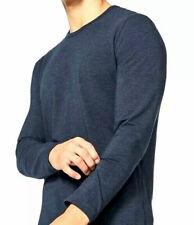 LULULEMON men's 5 Year Basic Long Sleeve Shirt-Heathered Nautical Navy-Large-EUC