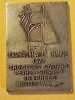 Rare médaille FFYV Championnat de France 1973 Noilly Schweppes Perros- Guirrec