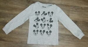 Disney Toddler Boy Long Sleeve Mickey Mouse Faces T-Shirt ~ Size 4T