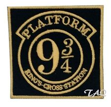 Platform 9 3/4 Iron Sew On Embroidered Patch Badge Harry potter UK Seller