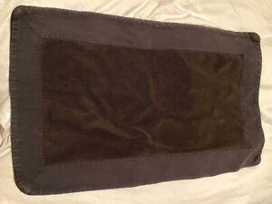 RH Restoration Hardware Banded Bath Rug Mat Black 18.5 X 31