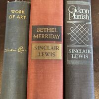 Sinclair Lewis Lot of 3 Books Gideon Planish Bethel Merriday Work of Art 1st Eds