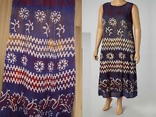 One Size Dress Shift Bohemian Batik Navy Red Maxi Abstract  NWT  M L XL $59.99