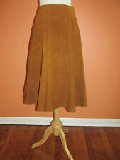Vintage Womens Size XS-S Cinnamon Brown Suede Leather A Line Hipster Skirt