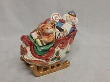 Fitz & Floyd Kris Kringle Covered Sleigh Sugar Bowl