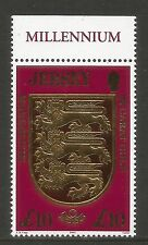 Jersey 2000 Millennium/Coat of Arms £10-Attractive Heraldry Topical (933) Mnh
