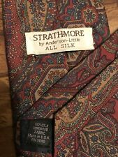 Mens STRATHMORE BY ANDERSON-LITTLE ALL SILK Lavender Paisley Neck Tie - 55 3/8""