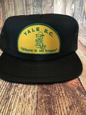 7d5a6d3d307677 Vintage Snapback Trucker Cap Hat YALE, British Columbia Where It All Began  Gold