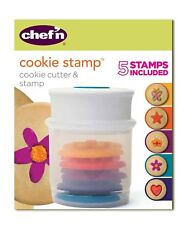 Chef'n Christmas Cookie Stamp and Cutter Set, 5 Stamps Included