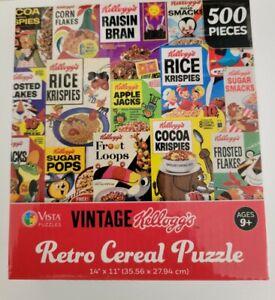 Vintage Kellogg's Retro Cereal Puzzle- 500 Pieces