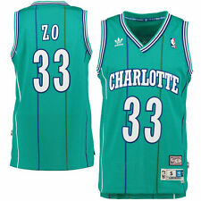 4041a32081a adidas Alonzo Mourning Charlotte Hornets Teal Soul Swingman Nickname Jersey  M