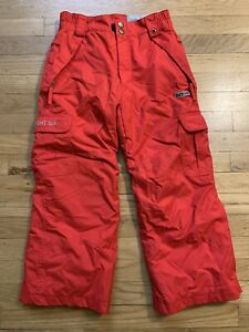 686 Ridge Youth Boys SMALL Insulated Snowboard Snow Ski Winter Pants RED