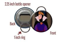 "Evil Queen Grimhilde Snow White Disney Villain 2 1/4"" Bottle Opener / Keychain"