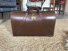 Vintage Brown Leather Gladstone Doctors Bag Briefcase
