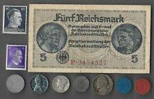 Rare US WWII Coin Collection German Stamp War Lot Silver Mercury War Nickel 506