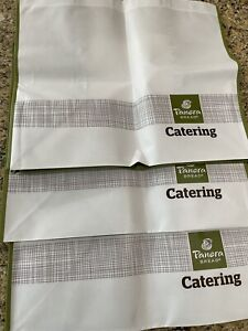 Panera Bread Catering Bags Lot Of 3 Large Reusable Totes 20x18x12