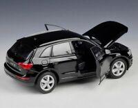 Model Cars. 1/24, Audi Q5, - Black, Metal, Model Car, Welly
