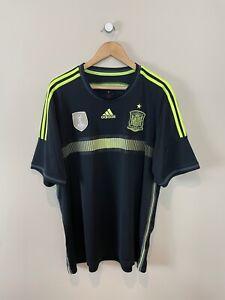 SPAIN 2013-15 (XXL) AWAY FOOTBALL SHIRT VINTAGE ADIDAS RETRO SOCCER CLASSIC