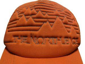 Vintage North Face Orange Trucker Hat Adult One Size