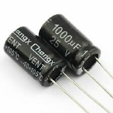 5PCS 25V 1000uF 25Volt 1000MFD Electrolytic Capacitor 10×16 Radial NEW