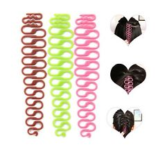 2pcs French Style Hair Braid Tool Magic Twist Styling Bun Maker Clip Roll