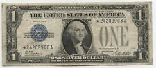 1928-A $1 Silver Certificate Star Note - One Dollar Currency - AX567