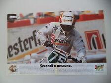 advertising Pubblicità 1992 CASCO CHESTERFIELD BIEFFE CROSS e DANNY SCHMIT