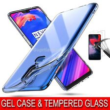Ultra Thin Crystal Clear Case & Tempered Glass Screen Protector for OnePlus 6