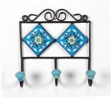 Hanger / Iron & Ceramic Tile Hanger / Hook For Cloth Hanging / Key Hanger - 07