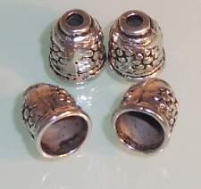 ♥ Perlenkappen Endkappen groß 10x11mm silber 4 Stk ♥ Z048