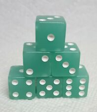 Koplow's Glow-in-Dark Dice>>16mm Lime w/White Pips & Squared - Green Citrus!