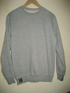 Lee Cooper Men's Pullover Grey Sweatshirt Jumper Sweater Size Small