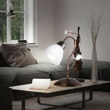 Lampe de Table Lampadaire feuilles grimpant verre salon couleur rouille ancien