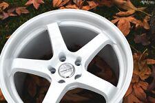18X9.5 +35 VARRSTOEN ES9 5X100 WHITE Wheel Fits CELICA COROLLAWRX BRZ FR-S GT86