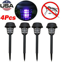 1/2/4PC Solar Powered LED Light Pest Bug Zapper Insect Mosquito Killer Lamp Lawn