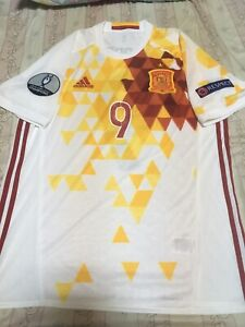100% Official Fernando Torres Spain Euro 2016 Away Jersey Shirt Authentic Large