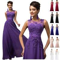 Long Wedding Evening Formal Party Gown Prom Bridesmaid Women Ball COCKTAIL Dress