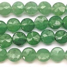 Aventurine 8mm Green Faceted Coin Semi Precious Stone Beads Q24 Beads per Pkg