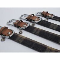 Rosewood Luxury Leather Tweed Check Dog Collar (VP8435)