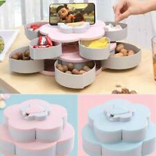 Bloom Snack Tray Petal Flower Rotating Box Candy Nuts Dried Fruit Plate Party