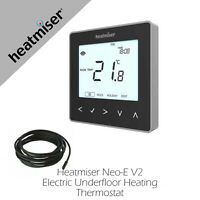 Heatmiser NeoStat E Electric Underfloor Heating Thermostat Sapphire Black