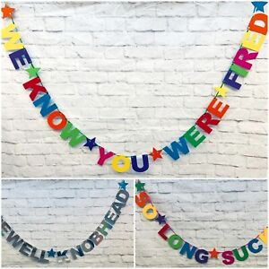 Personalised funny rude retirement Banner leaving do bunting office Decorations