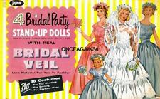 Vintage Uncut 1950's 4 Bridal Party Paper Dolls~#1 Repro~Extremely Rare~Pretty !