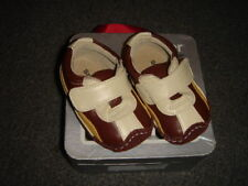NEW NIB SEE KAI RUN CHASE 6-9 BROWN LEATHER SHOES