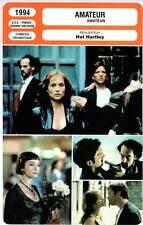 AMATEUR - Huppert,Donovan,Hartley (Fiche Cinéma) 1994